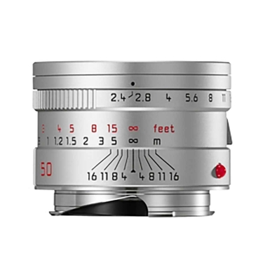 Leica Summarit-M 50mm F2.4 Lens (silver anodized)