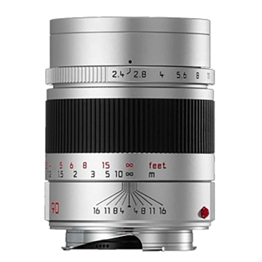 Leica Summarit-M 90mm F2.4 Lens (silver anodized)