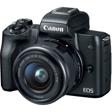 Canon EOS M50 (black) with 15-45mm IS STM Lens