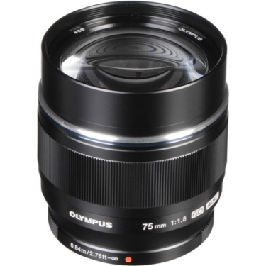 Olympus PEN MSC 75mm F1.8 Lens (Black) - Open Box
