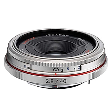 Pentax DA 40mm F2.8 HD Limited Lens (silver)