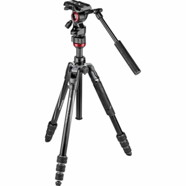 Manfrotto Befree Live Aluminum Video Tripod With MVH400 Fluid Head