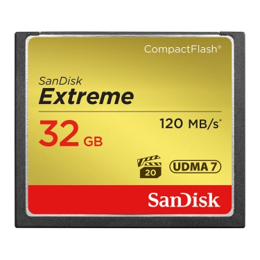 SanDisk Compact Flash 32GB Extreme 120MB/s Memory Card