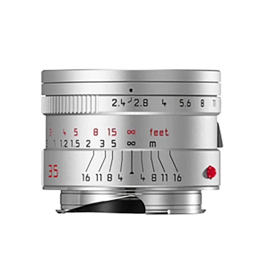 Leica Summarit-M 35mm F2.4 ASPH Lens (silver anodized)