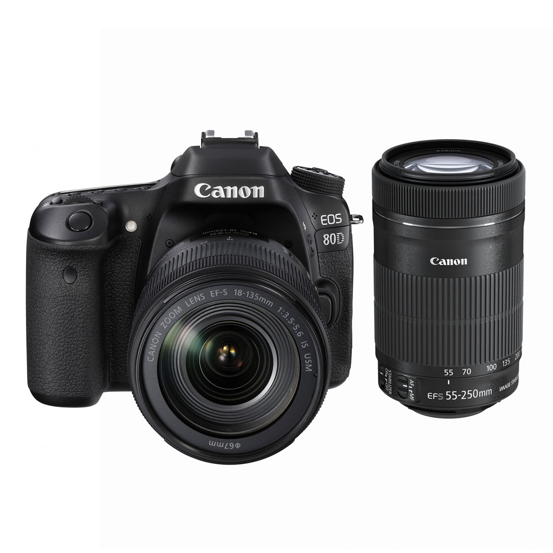 Canon EOS 80D with 18-135mm IS STM and 55-250mm STM Lenses