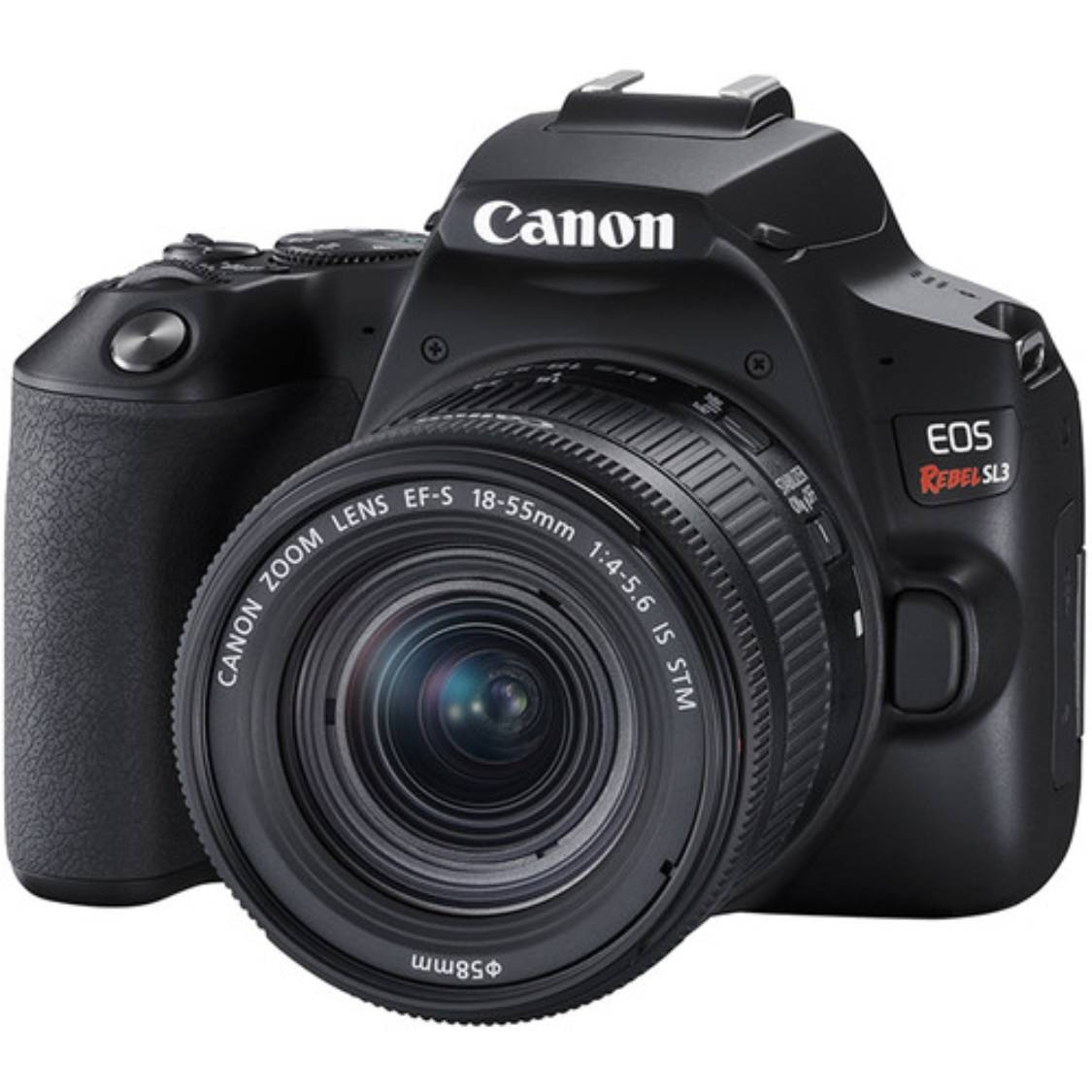 Canon Rebel SL3 with 18-55mm IS STM and 55-250mm STM Lenses (Black)