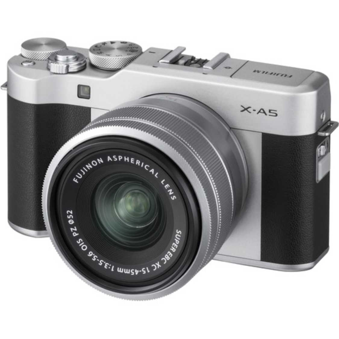 Fuji X-A5 with 15-45mm Lens (Silver)