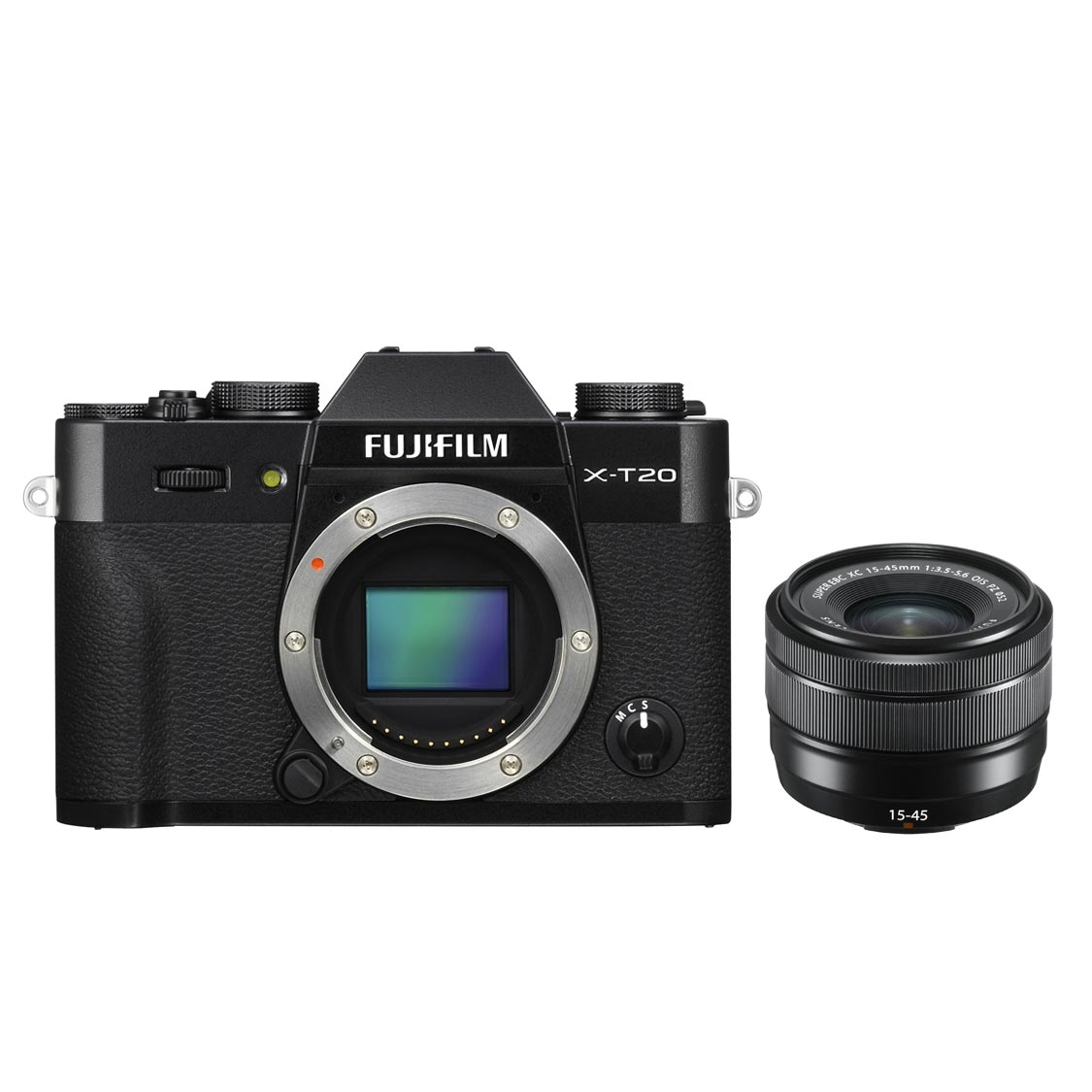 Fuji X-T20 Camera (black) with 15-45mm PZ Lens