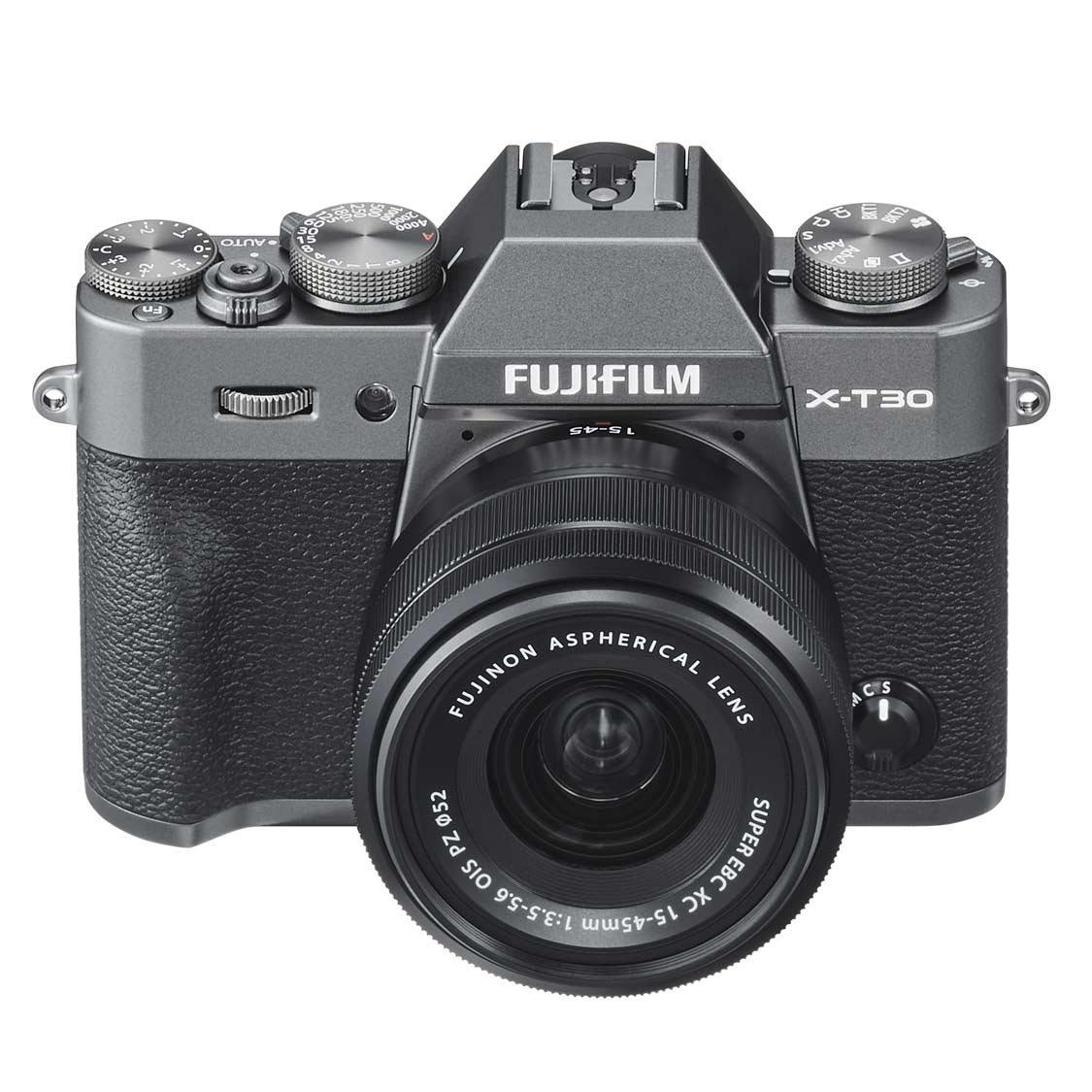 Fujifilm X-T30 Camera (charcoal) with 15-45mm f3.5-5.6 Lens