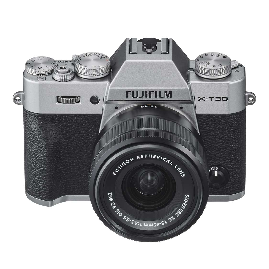 Fujifilm X-T30 Camera (silver) with 15-45mm f3.5-5.6 Lens