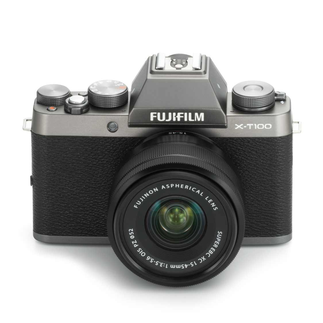 Fujifilm X-T100 Camera (silver) with 15-45mm PZ Lens