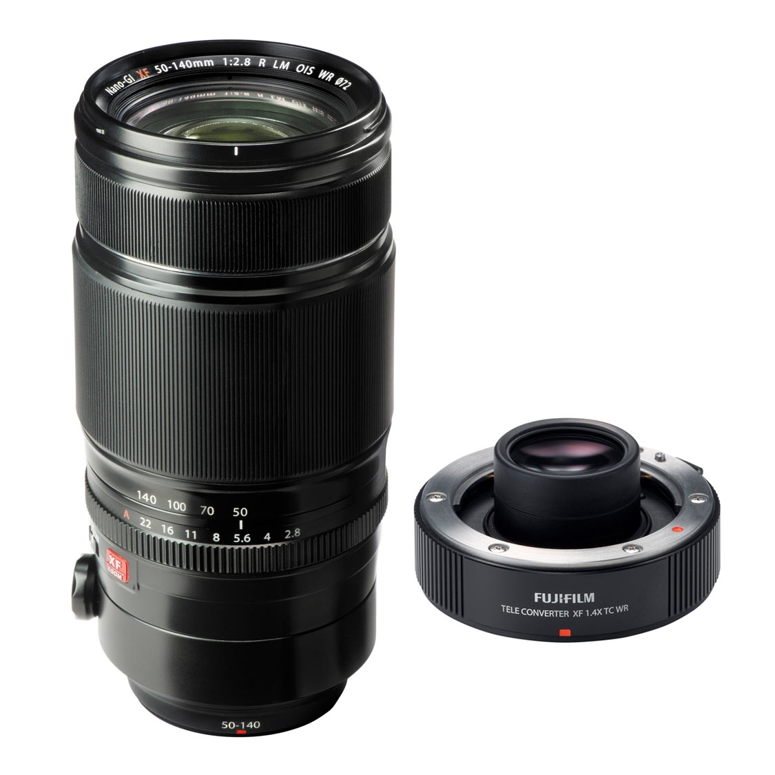 Fujifilm XF 50-140mm F2.8 R LM OIS WR Lens and 1.4x Teleconverter