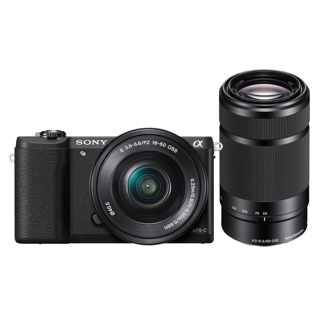 Sony A6000 Camera (black) with 16-50mm and 55-210mm Lenses