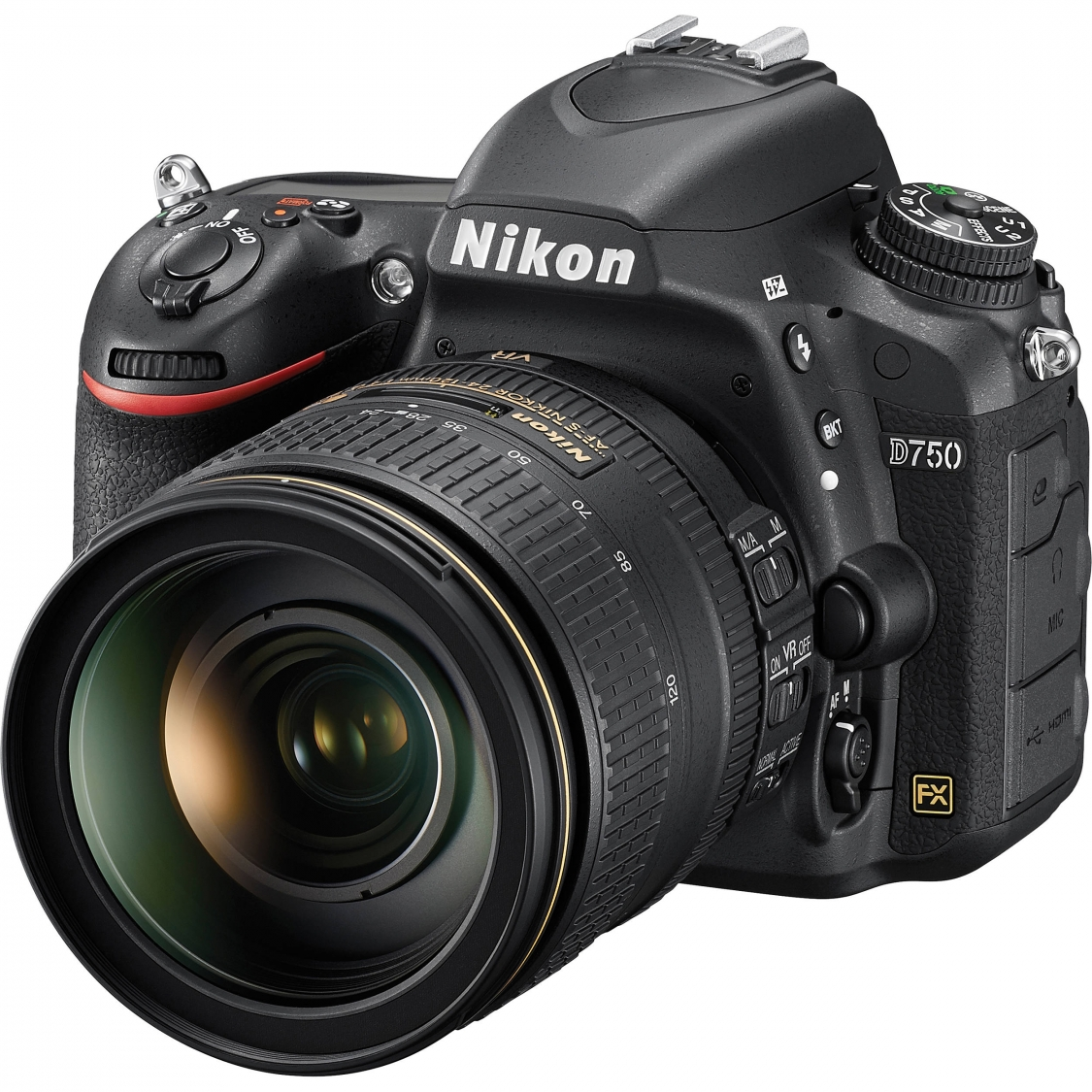 Nikon D750 DSLR with 24-120mm VR Lens