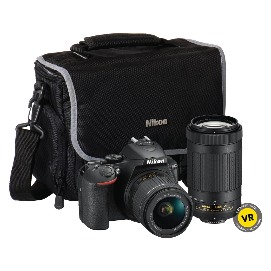 Nikon D5600 DSLR with 18-55mm VR, 70-300mm VR and Bag
