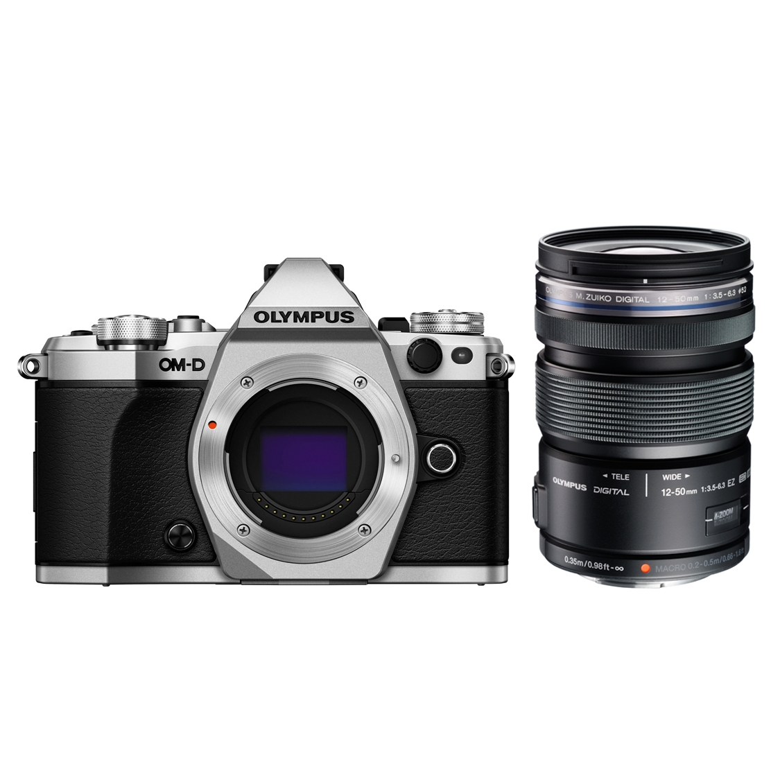 Olympus OM-D E-M5 Mark II (silver) and 12-50mm Lens