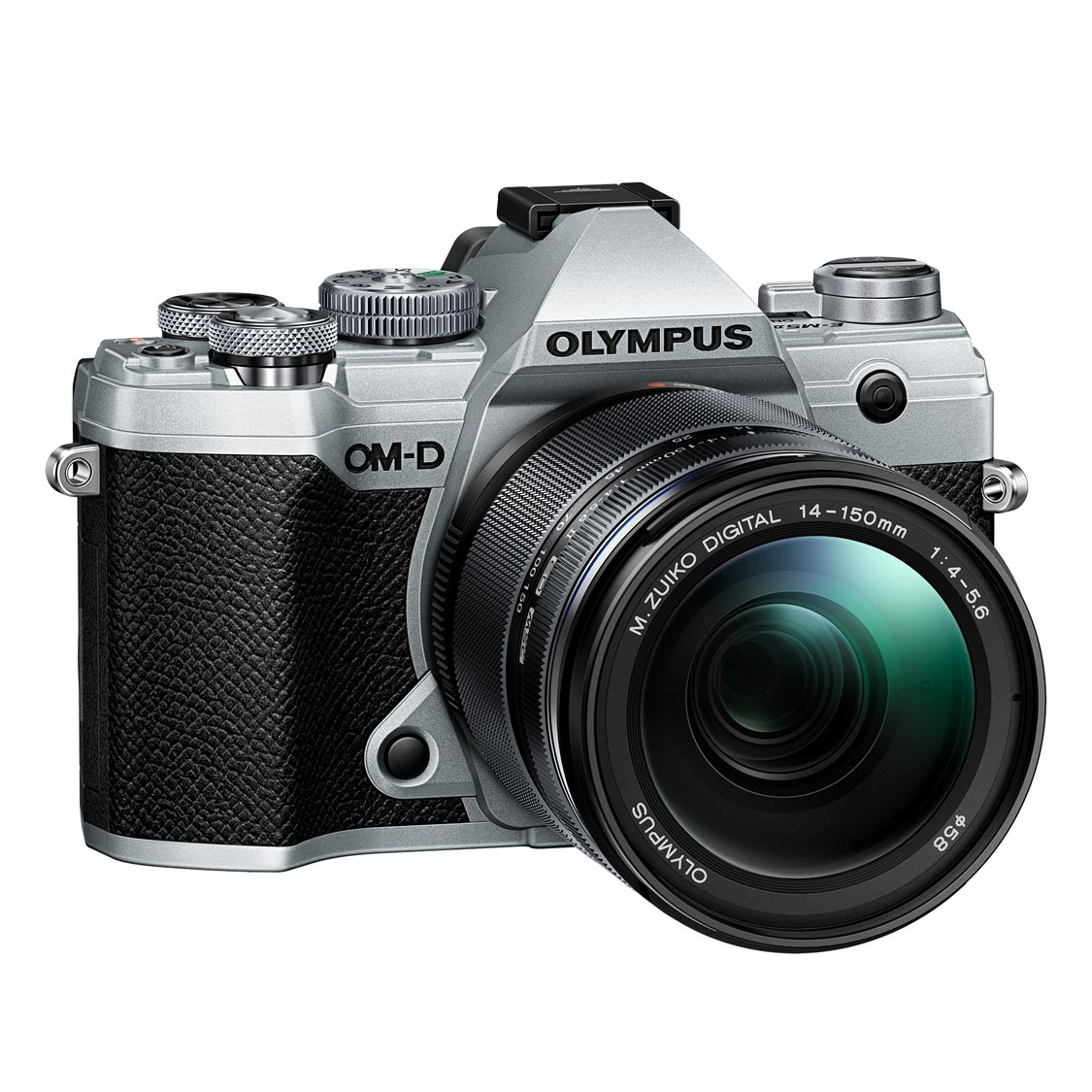 Olympus E-M5 Mark III Camera (silver) with 14-150mm Lens