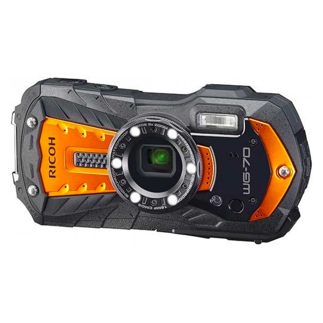 Ricoh WG-70 Waterproof Camera (orange)