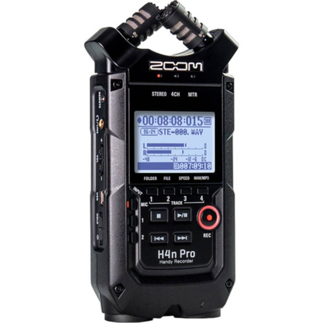 Zoom H4N Pro Handy Recorder (All Black)