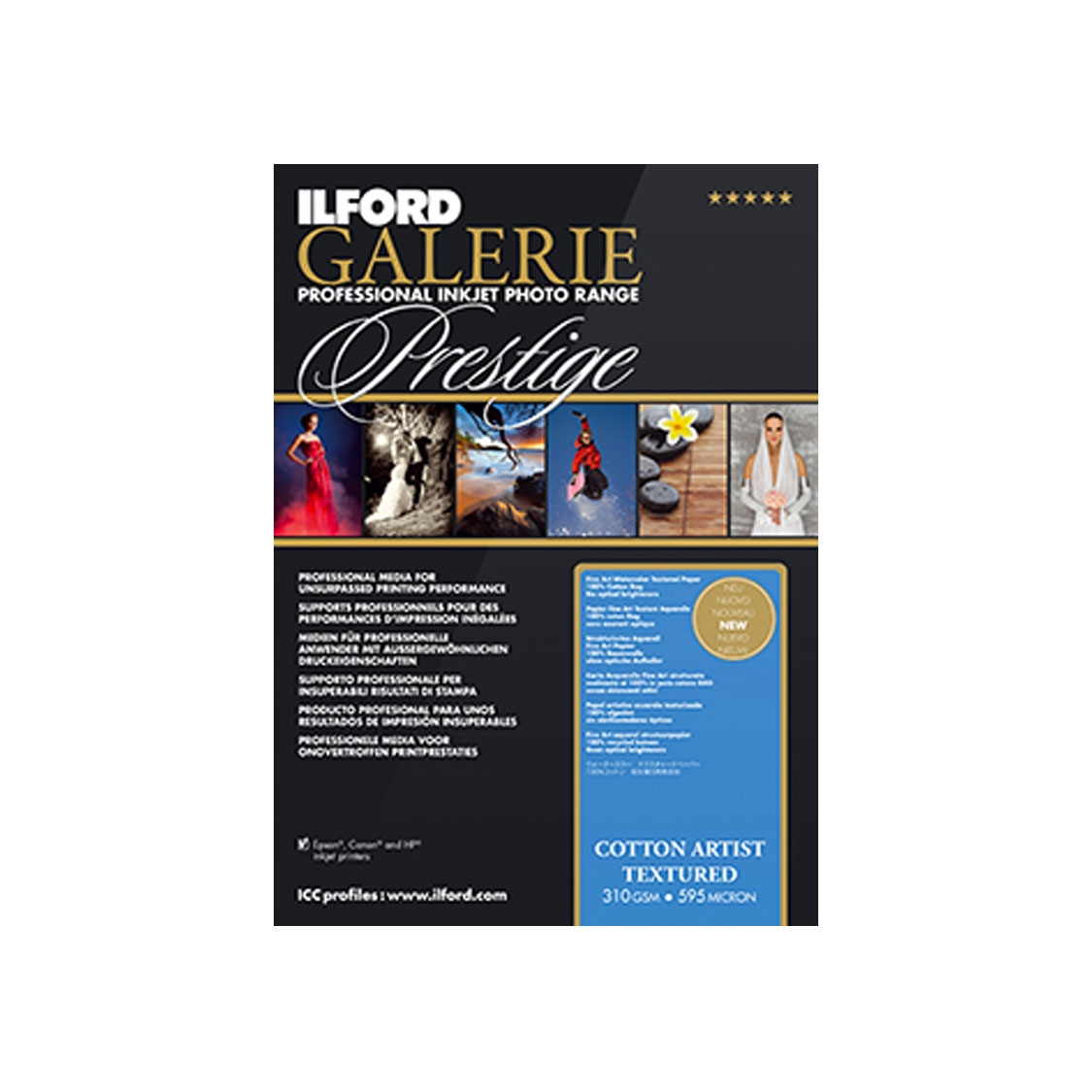 Ilford 8.5x11-inch Cotton Artist Textured Paper (25 sheets)