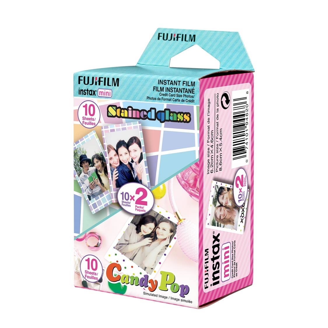 Fuji Instax Mini Pretty Pack (Stained Glass and Candy Pop)