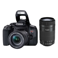 Canon Rebel T8i DSLR with 18-55mm IS STM and 55-250mm IS STM Lenses