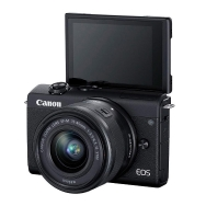 Canon EOS M200 (black) with 15-45mm Lens