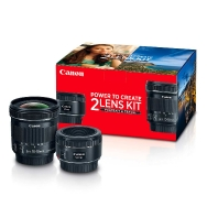Canon Portrait and Travel Kit including EF 50mm F1.8 and EF-S 10-18mm Lenses