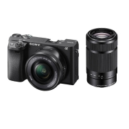 Sony A6400 Camera with 16-50mm and 55-210mm Lens (black)