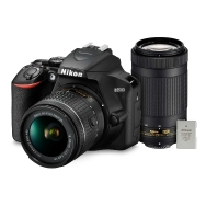 Nikon D3500 DSLR with 18-55mm Lens, 70-300mm Lens and EL14A Battery