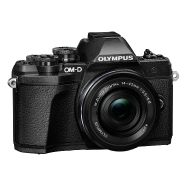 Olympus E-M10 Mark III Camera (black) with 14-42mm EZ Lens with Bag & Card