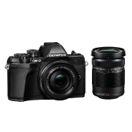 Olympus E-M10 Mark III Camera (black) with 14-42mm EZ and 40-150mm Lenses