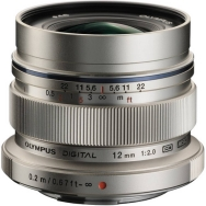 Olympus MSC 12mm F2.0 Lens (silver) - Open Box