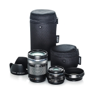 Olympus Travel Kit with 17mm F1.8, 14-150mm II, 2 Hoods and 2 Lens Cases