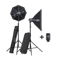 Elinchrom D-lite Rx One/One Softbox To Go Set w/EL-Skyport Trans