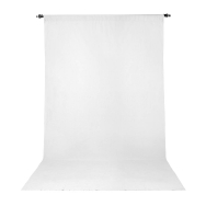 Promaster 10x20 ft White Wrinkle Resistant Back Drop
