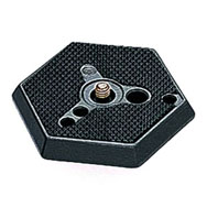 Manfrotto 030-14 Hexagonal Adapter Plate with 1/4-inch Screw