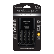 Panasonic Eneloop Pro Charger and 4x AA 2550mah Batteries
