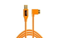 Tether Tools Tetherpro USB 3.0 To Micro-B Right Angle 15 (4.6m) High Visibility Orange