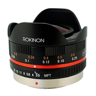 Rokinon 7.5mm F3.5 Micro Four Thirds Lens (black)