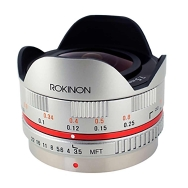 Rokinon 7.5mm F3.5 Micro Four Thirds Lens (silver)