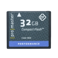 Promaster 32GB Compact Flash 500x Memory Card