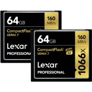 Lexar 64GB Professional 1066x CompactFlash Memory Card (2Pack)