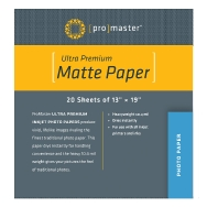 Promaster 13x19-inch Matte Paper (20 sheets)